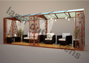 Custom made gazebo modern metal design