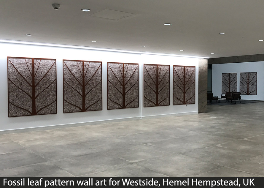 Fossil Laser cut wall art panels