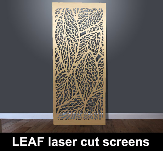 Leaf Laser Cut Metal Screen Laser Cut Screens For