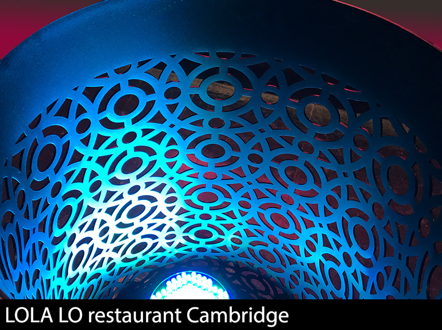 LOLA LO restaurant cambridge laser cut screens