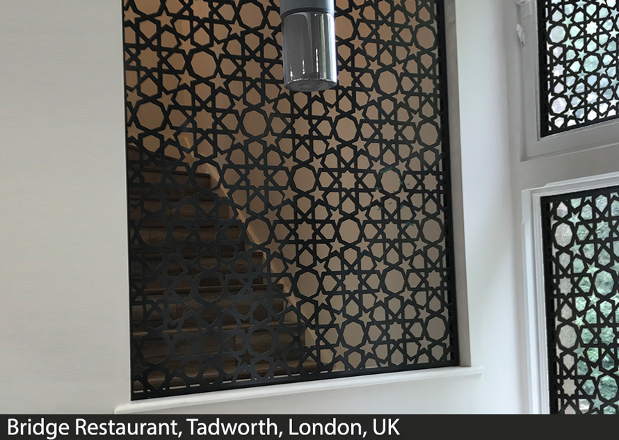 Moroccan and islamic fretwork window screens