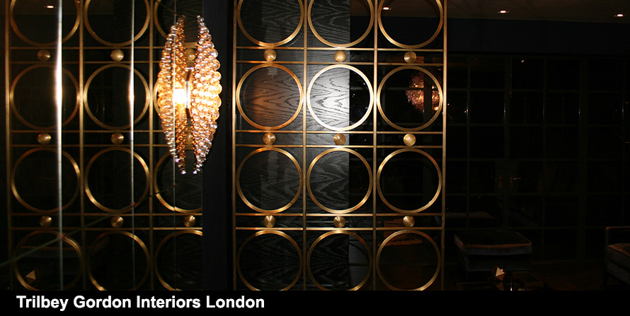 Brass Screen in Bloom design with Trilbey Gordon Interiors