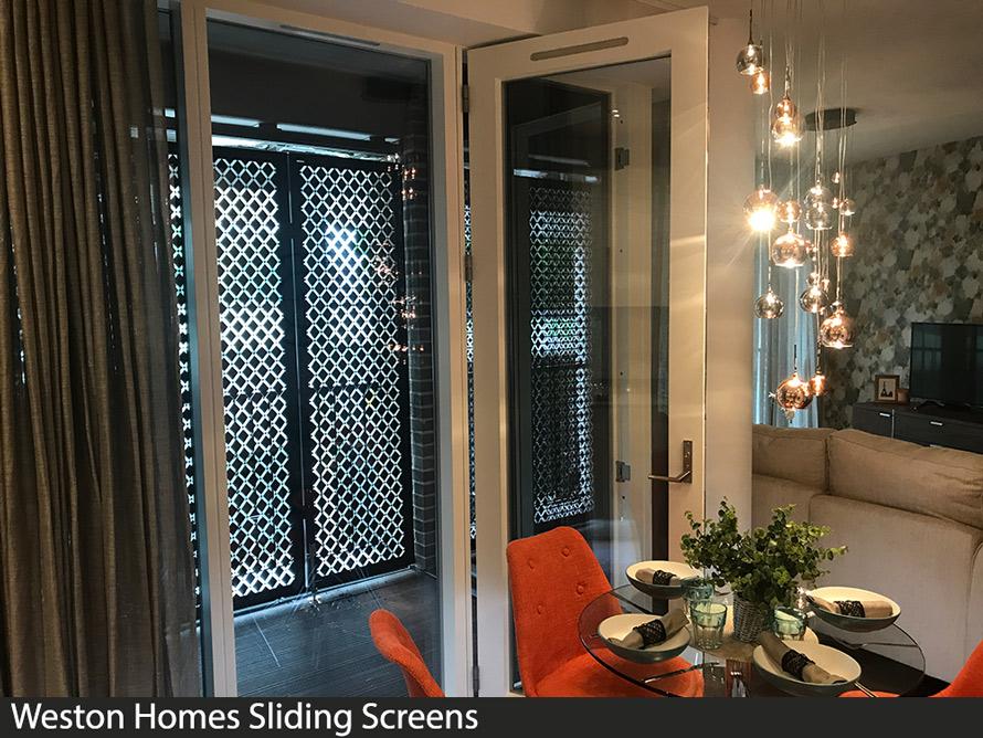 weston homes sliding doors and external patio screens