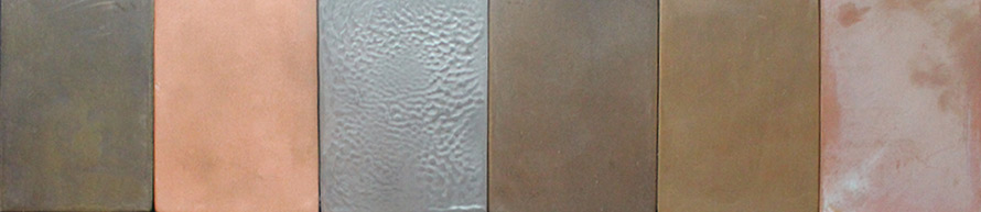 Bronze and copper laser cut screens