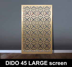 DIDO 45 large brass laser cut screens and decorative panels