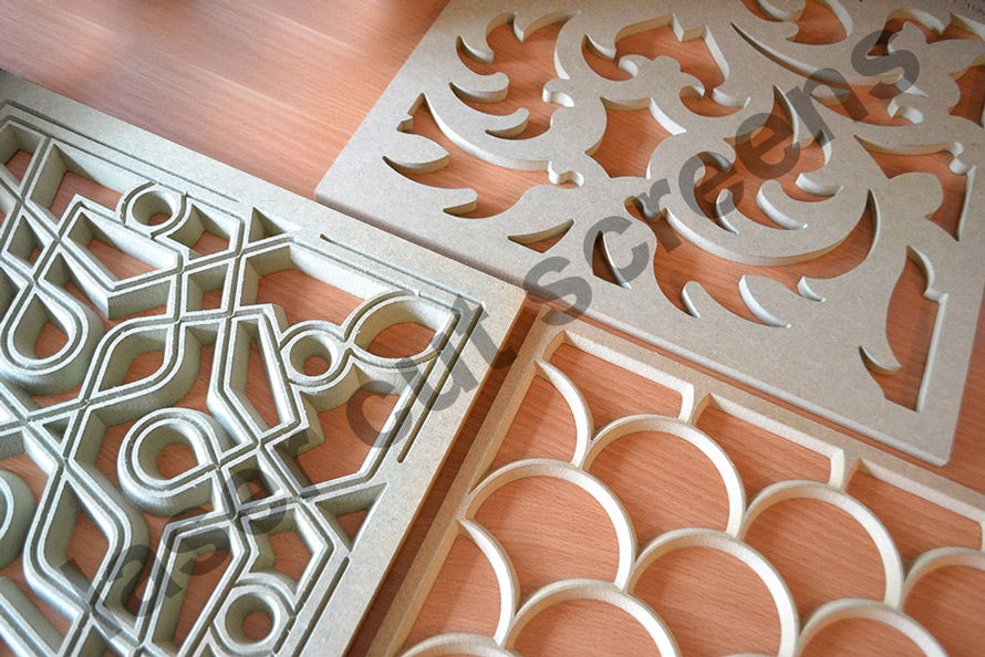 MDF fretwork laser cut panels
