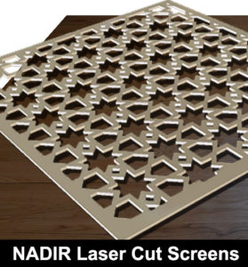 NADIR Laser cut screens in cream colour