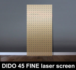 DIDO 45 fine laser cut screens and fretwork panels
