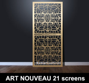 ART NOUVEAU 21 laser cut decorative screens