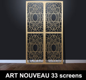 Art Nouveau 33 laser cut decorative screens