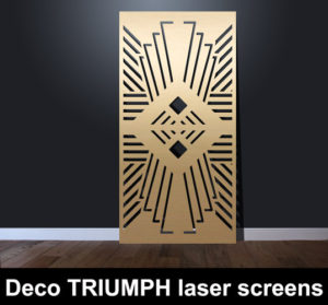 Deco TRIUMPH laser cut decorative screens