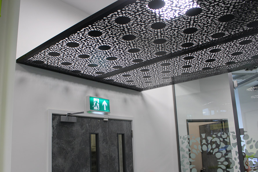 Nottingham Lace laser cut metal roof canopy