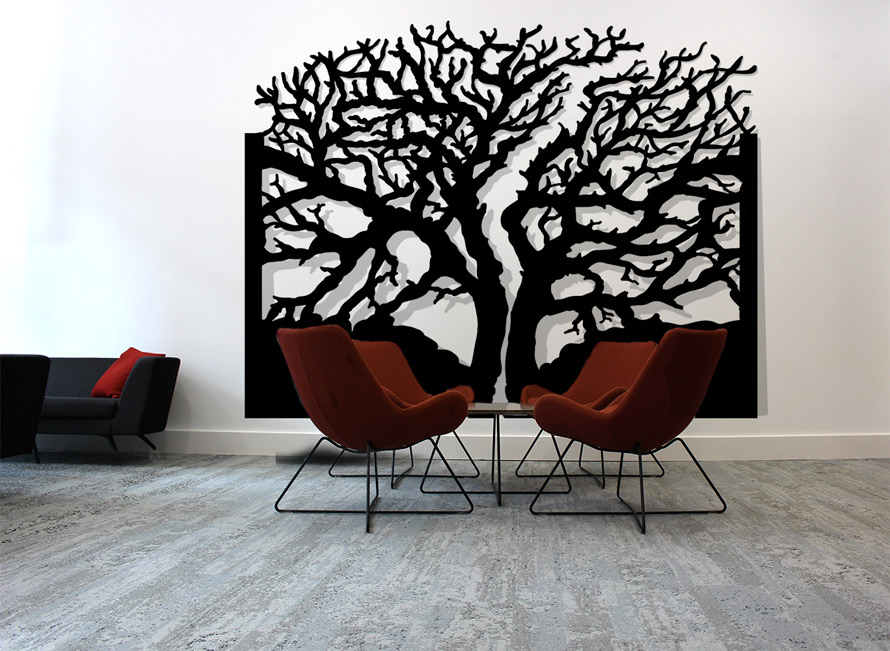 Decorative wall art in ROHAN tree design