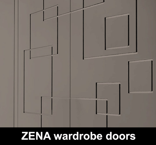 ZENA 3D MDF wardrode doors custom made