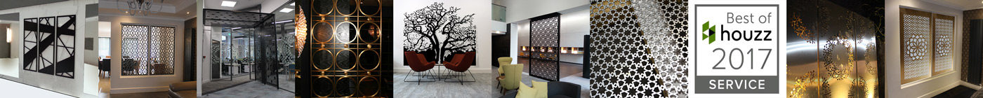 laser cut screens for architectural and home interiors