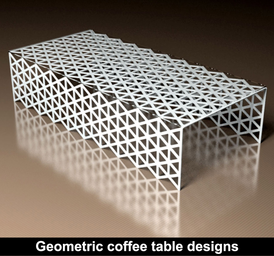 Modern fretwork tables and coffee tables