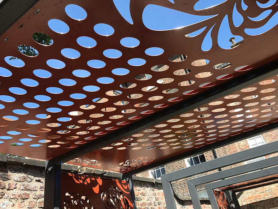 custom made pergola fretwork panels