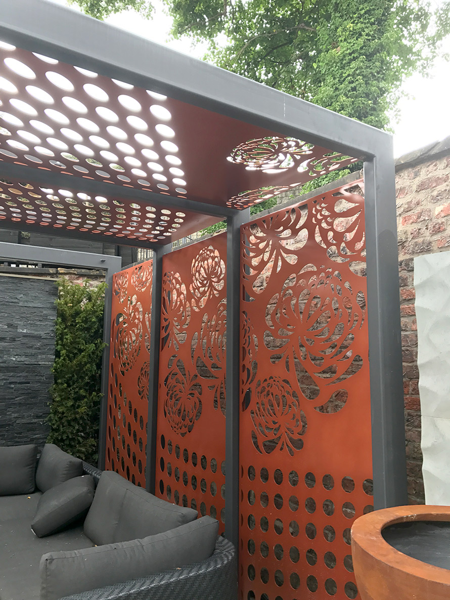 custom made pergola fretwork screens