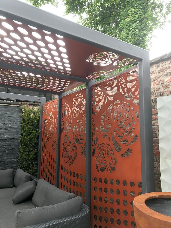 custom made pergola fretwork screens