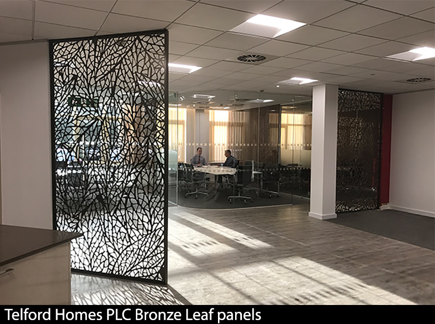 Telford Home PLC Bronze Leaf room partitions