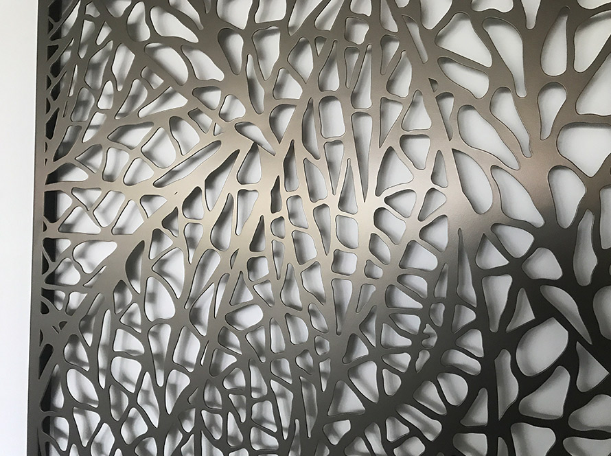 Modern laser cut metal wall art