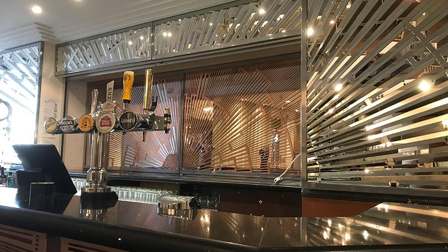 Art Deco decorative laser cut panel