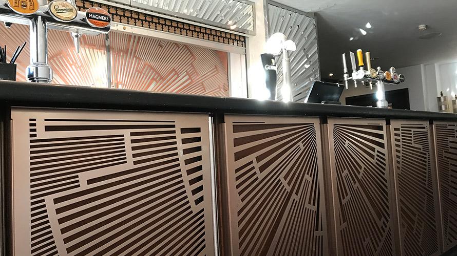 art deco restaurant and cocktail bar