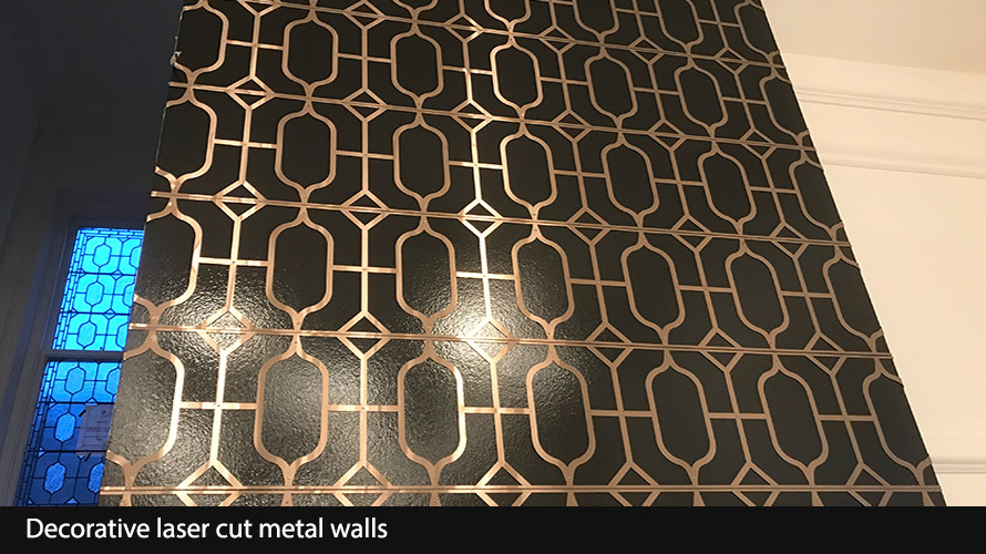 laser cut metal wall panels in bronze metallic