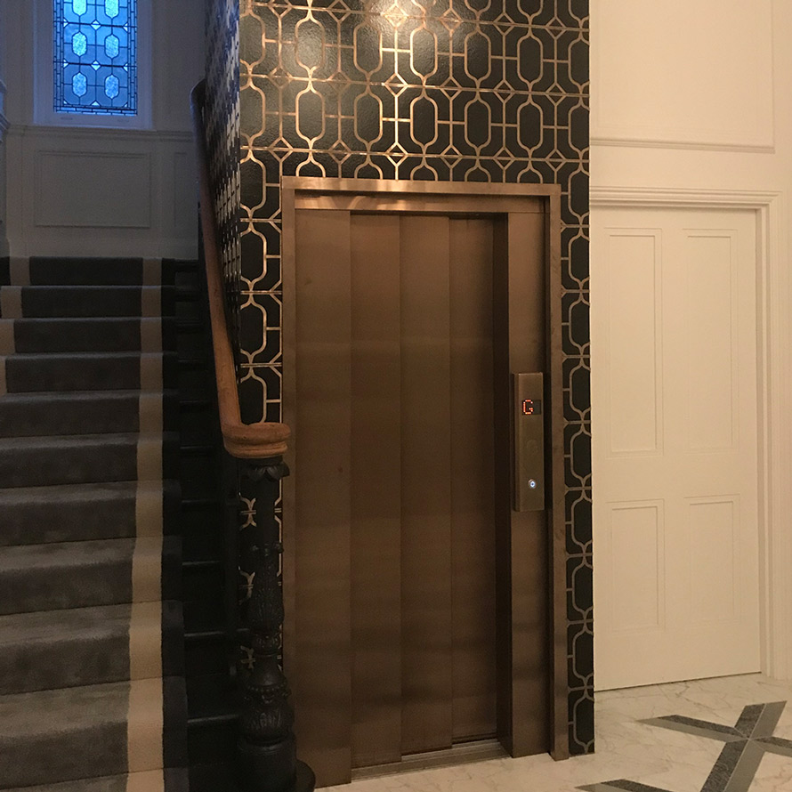 bronze interior door panels and reveals