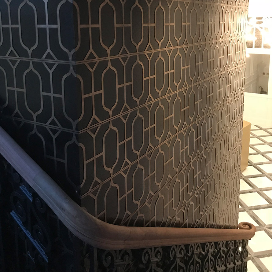custom made bronze fretwork wall panels