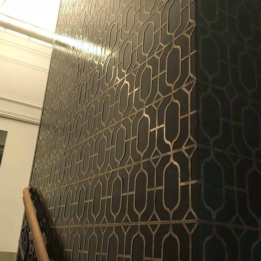 bespoke bronze interior panels