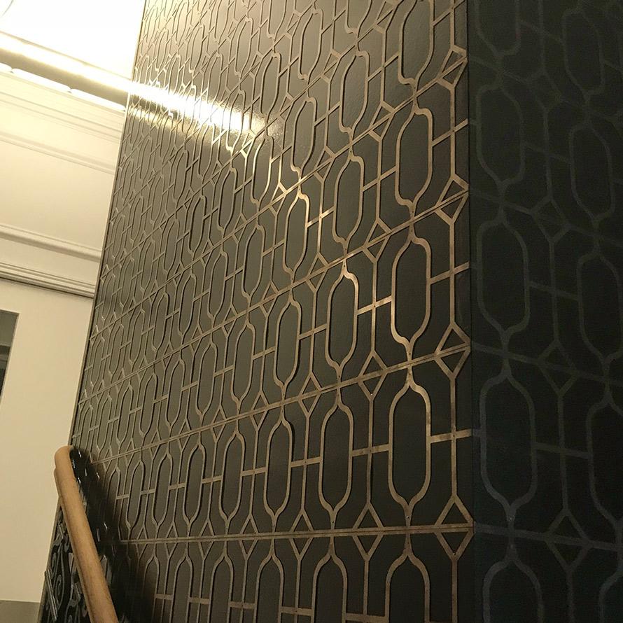 bespoke bronze interior panels