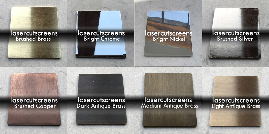Metallic finishes for brass and copper