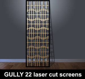 Gully 22 laser cut fretwork panels