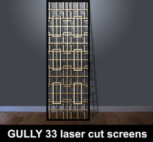Gully 33 laser cut panels in 3D
