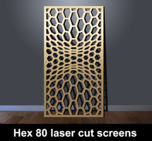 Hex 55 modern fretwork design mdf