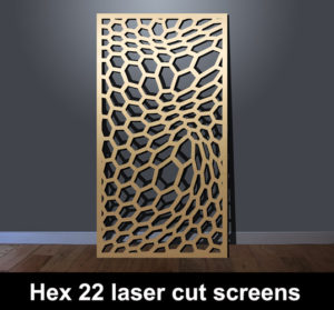 Hex 22 laser cut fretwork screens