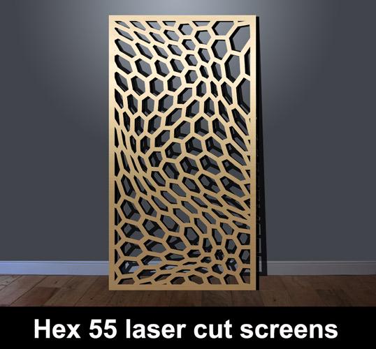 Hex 55 Modern Fretwork Panel Laser Cut Screens For