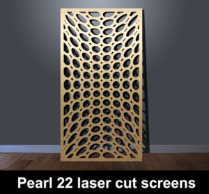 Pearl 22 laser cut metal screens