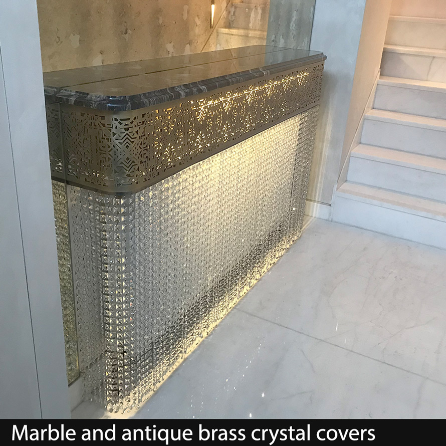 antique brass crystal radiator covers
