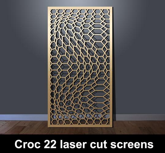 Croc 22 Laser Cut Metal Screens Laser Cut Screens For