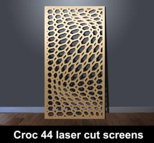 Croc 44 laser cut metal panel