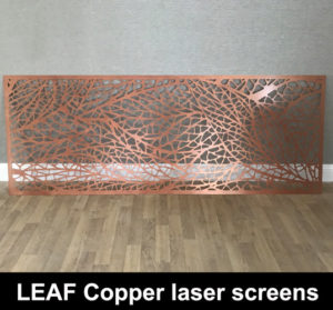 LEAF Copper metallic fretwork screens
