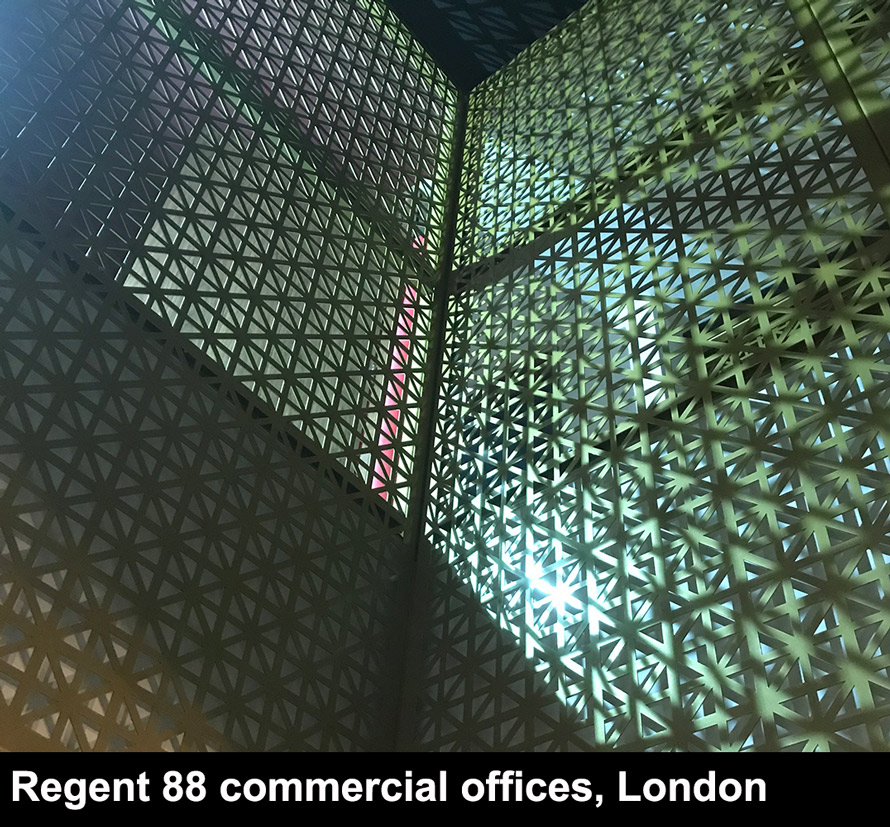 Regent 88 commercial laser cut screens