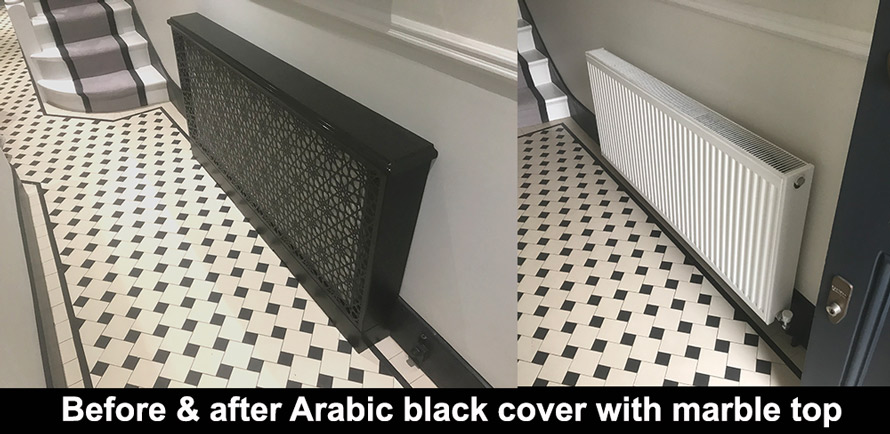 before and after arabic radiator covers
