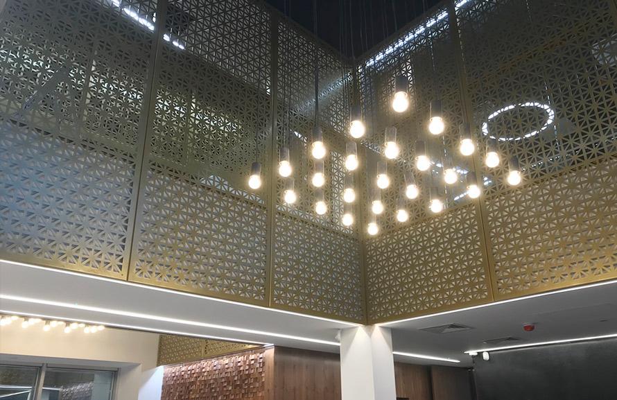Decorative fretwork laser cut panels