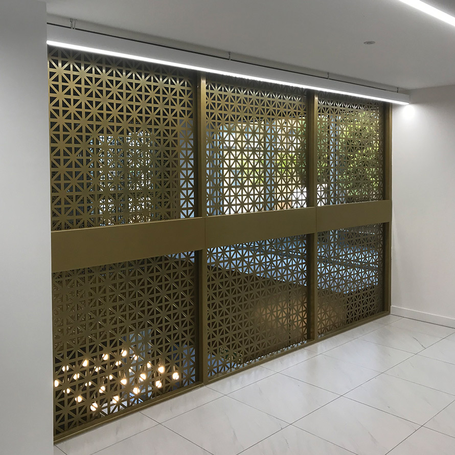 decorative fretwork screens for commercial interiors