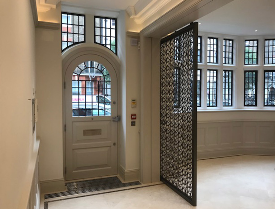 harley street Kroma laser cut screens