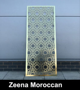 Zeena Moroccan brass fretwork screens