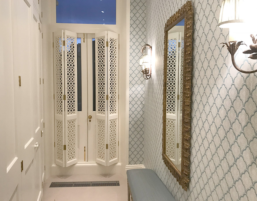 Custom made fretwork bifold doors and screens